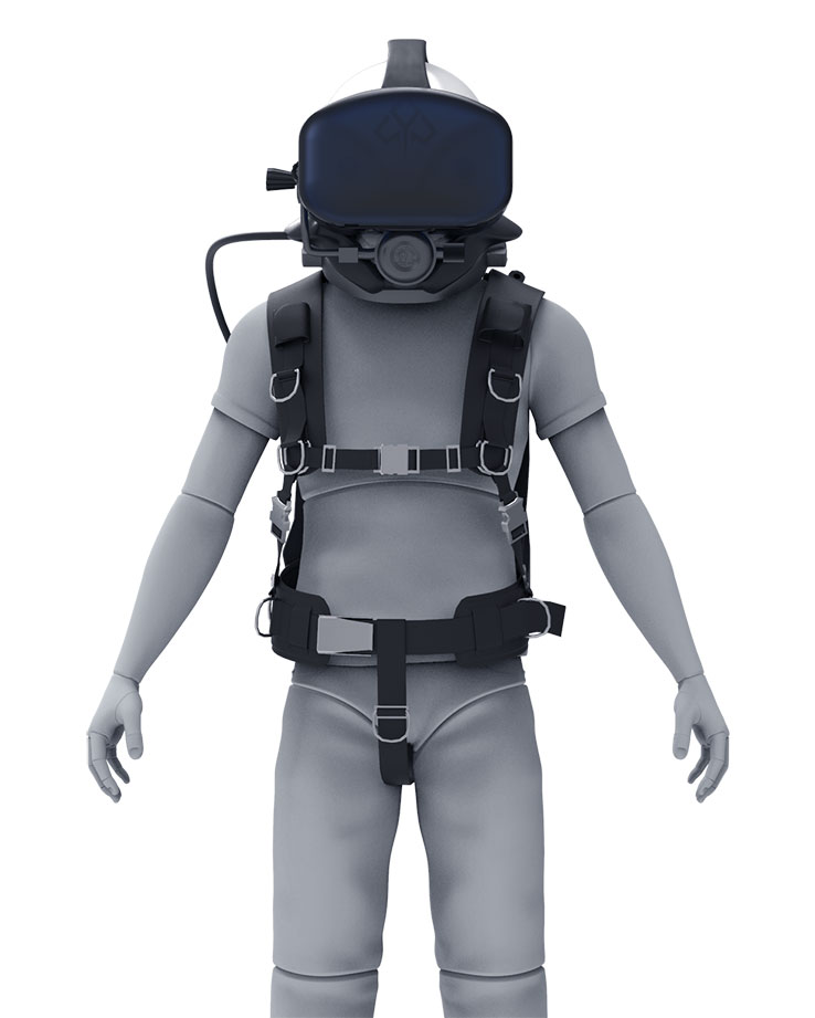 The Raytracer Pilot System Design is a graphic depicting an astronaut wearing Raytracer's Titan Lake virtual reality headset.