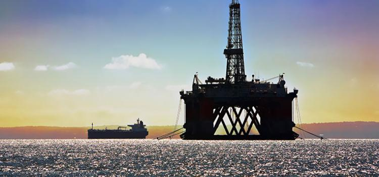 Photo of an offshore resource exploration platform