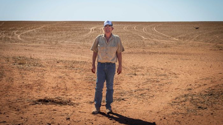 Jeff Baldock has volunteered a portion of his property in Kimba for the nuclear waste facility.