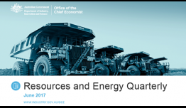 Resources and Energy Quarterly publication cover June 2017