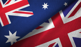 Photo of Australian and UK flags
